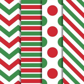 Digital Papers Kringle Christmas Set
