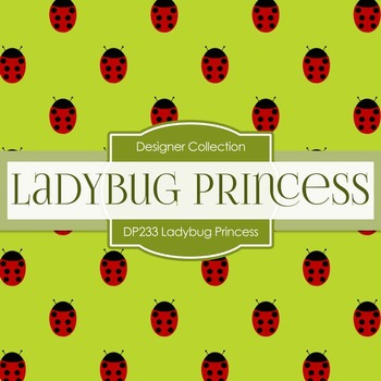 Digital Papers - Ladybug Princess (DP233)