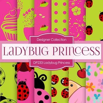 Digital Papers - Ladybug Princess (DP233)