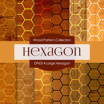 Digital Papers - Large Hexagon (DP6314)