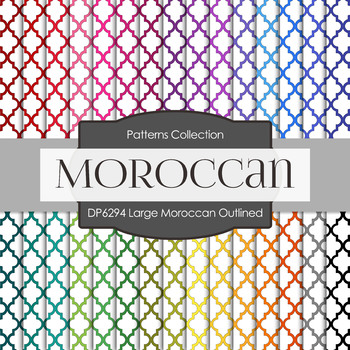 Digital Papers - Large Moroccan Outlined (DP6294)