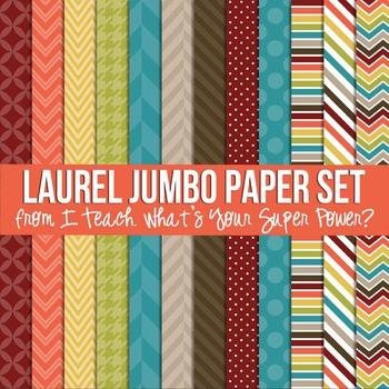 Digital Papers Laurel Fall Jumbo Paper Set