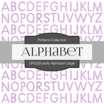 Digital Papers - Leafy Alphabet Large (DP6220)