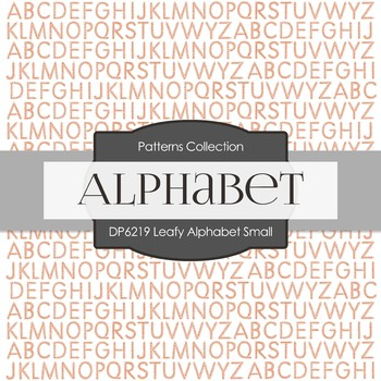 Digital Papers - Leafy Alphabet Small (DP6219)