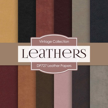 Digital Papers -  Leather Papers (DP727)