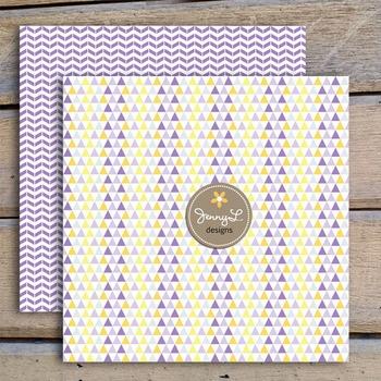 Digital Papers Lemon Lavender