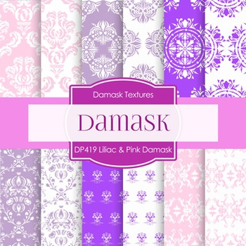 Digital Papers - Lilac Pink And Damask (DP419)