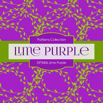 Digital Papers - Lime Purple (DP3406)