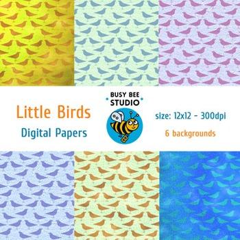 Digital Papers: Little Birds