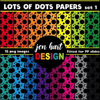 Digital Papers  {Lots of Dots set 1}