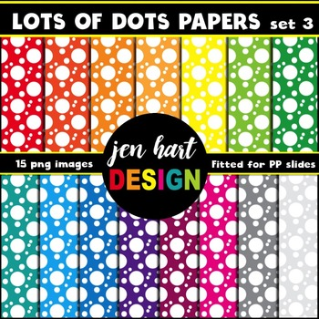 Digital Papers  {Lots of Dots set 3}