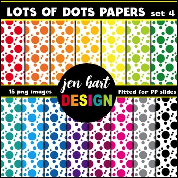 Digital Papers  {Lots of Dots set 4}
