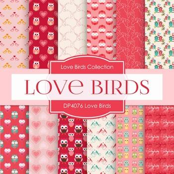 Digital Papers -  Love Birds (DP4076)