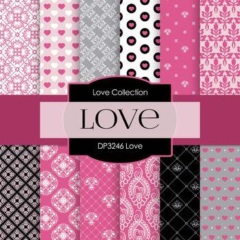 Digital Papers - Love (DP3246)