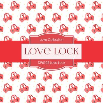 Digital Papers - Love Lock (DP6102)