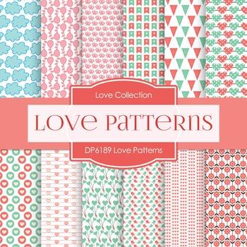 Digital Papers - Love Patterns (DP6189)