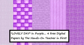 Digital Papers: Lovely Day in Purple {for commercial use} ***FREEBIE***