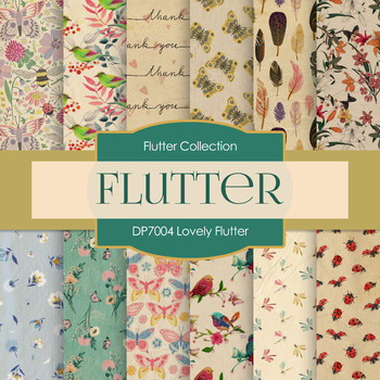 Digital Papers - Lovely Flutter (DP7004)