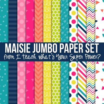 Digital Papers Maisie Jumbo Paper Set