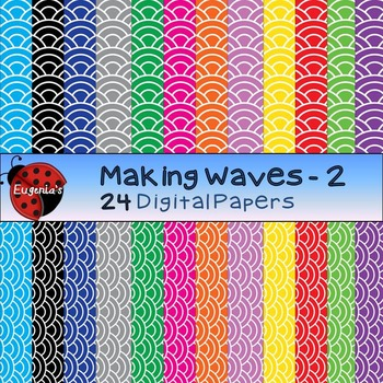Digital Papers - Making Waves Set 2