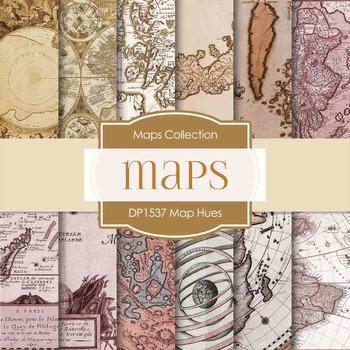 Digital Papers - Map Hues (DP1537)