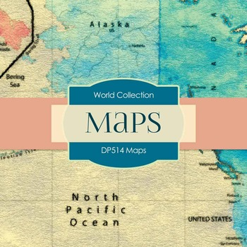 Digital Papers - Maps (DP514)
