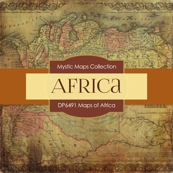 Digital Papers - Maps of Africa (DP6491)
