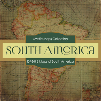 Digital Papers - Maps of South America (DP6496)