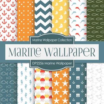 Digital Papers - Marine Wallpaper (DP2256)