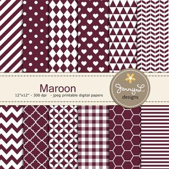 Digital Papers : Maroon