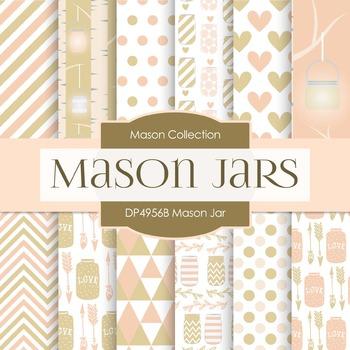 Digital Papers - Mason Jar (DP4956B)