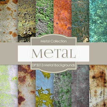 Digital Papers - Metal Backgrounds (DP3013)