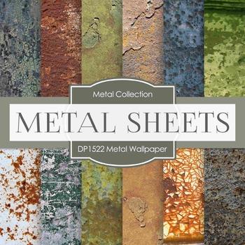 Digital Papers - Metal Wallpaper (DP1522)