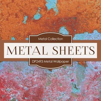 Digital Papers - Metal Wallpaper (DP2493)
