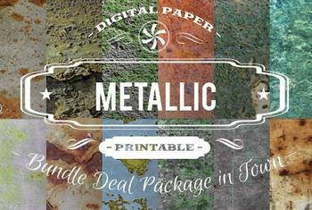Digital Papers - Metallic Patterns Bundle Deal