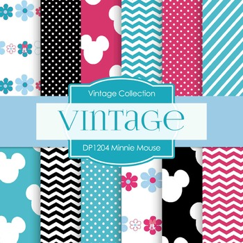 Digital Papers - Minnie Mouse (DP1204)