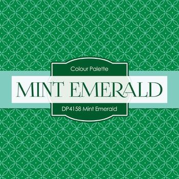 Digital Papers - Mint Emerald (DP4158)