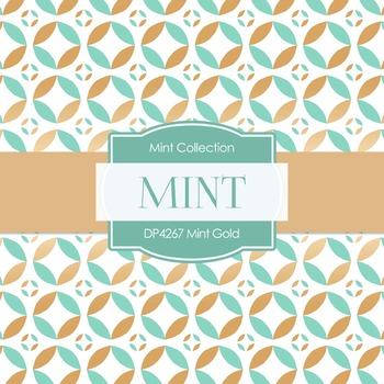 Digital Papers - Mint Gold (DP4267)