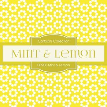 Digital Papers - Mint Lemon (DP200)