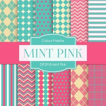 Digital Papers - Mint Pink (DP2918)
