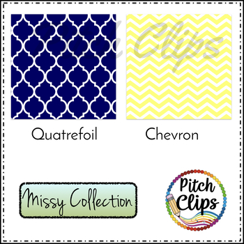 Digital Papers: Missy Collection - 6 papers, 17 colors - 102 Papers!