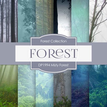 Digital Papers - Misty Forest (DP1994)
