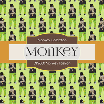 Digital Papers - Monkey Fashion (DP6800)