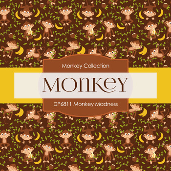 Digital Papers - Monkey Madness (DP6811)