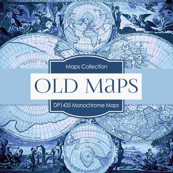 Digital Papers -  Monochrome Maps (DP1435)