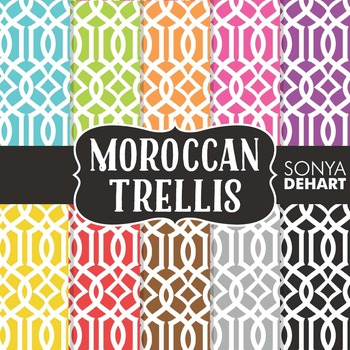 Digital Papers - Moroccan Trellis Paper Patterns