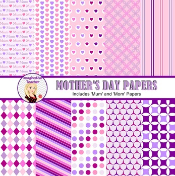 Digital Papers - Mothers Day theme