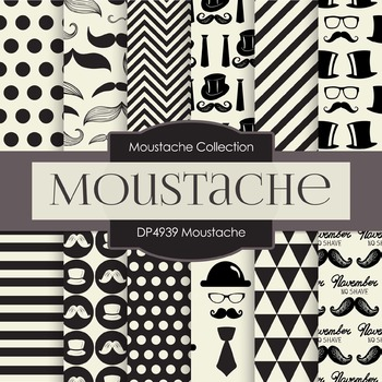 Digital Papers - Moustache (DP4939)
