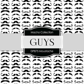Digital Papers - Moustaches (DP875)