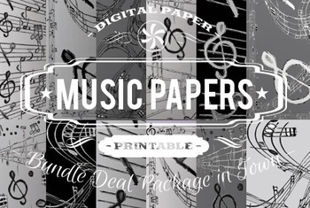 Digital Papers - Music Patterns Bundle Deal